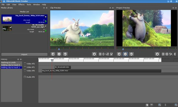 iMovie の選択肢, VideoLAN Movie Creator